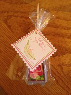 Customized Baby Shower Favor w/tag