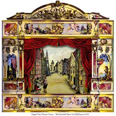 EKDuncan - My Fanciful Muse This time round it s a German Paper Theater by J.  Schreiber of Esslingen I really like the fancy elements on theaters like  this ... 5172c9a1d7