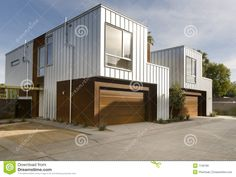 Modern Home Exterior Architecture Stock Photo - Image: 7126780