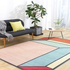 Nordic Style Geometric Rug – Retro Minimal - Home Accessories - Nordic Style Geometric Rug – Retro Minimal - Living Room Shop, Living Room Carpet, Rugs In Living Room, Modern Boho, Modern Rugs, Indian Living Rooms, Minimal Home, Geometric Rug, Rooms Home Decor