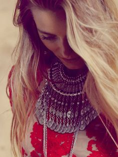 Chanour Silver Antalya Coin Collar at Free People Clothing Boutique