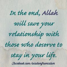Allah will save your relationship