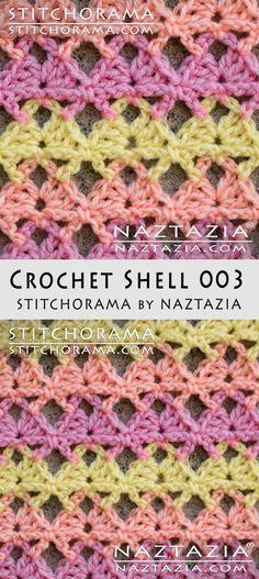 Crochet Shell 003 - Stitchorama by Naztazia