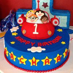My son's 1st birthday cake. Little Einsteins theme. :)