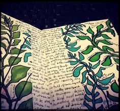 """The day we played """"Whats in your wallet"""" i had many things and in my hand i had my journal. i keep many things in there and personalized it myself just like the picture is. I could write for days to clear my mind. Art Journal Pages, Journal Cards, Art Journals, Sketch Inspiration, Bullet Journal Inspiration, Altered Books, Altered Art, Moleskine, Plant Drawing"""