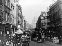 Fleet Street, London, 1880 Vintage Photography, Street Photography, Fleet Street, London Photos, Old Photos, Street View, Black And White, Places, Lugares