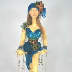 Treasures of the Deep ePattern - Doll Street Dreamers -online doll classes, e-patterns, mixed media art classes, free doll patterns and Doll Clothes Patterns, Doll Patterns, Fun Crafts, Arts And Crafts, Doll Costume, Costumes, Soft Sculpture, Sculptures, Mixed Media Art