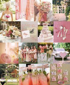 Breast cancer awareness, pink wedding details, pink inspiration board