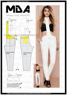 Materiales gráficos Gaby: Molde de pantalón con tirantes