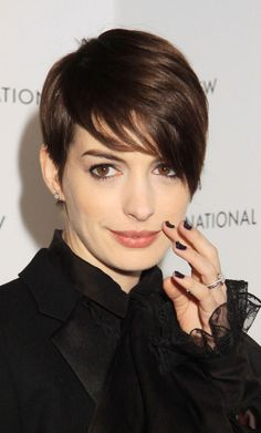 Ann Hathaway's Short Pixie Hairstyles   Girly Inspiration