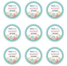 Etiquetas para el Día de la Madre Dad Day, Mom And Dad, Cake Logo, Digital Scrapbook Paper, Happy Mothers Day, Cardmaking, Decorative Plates, Packaging, Baby Shower