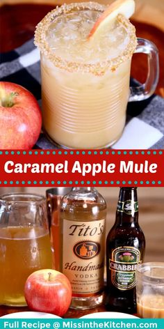 Caramel Apple Mule cocktails are super simple to make at home featuring the delicious flavors of a caramel apple. A quick and easy vodka cocktail that everyone will love. Cocktails To Try, Fall Cocktails, Vodka Cocktails, Refreshing Cocktails, Yummy Drinks, Caramel Apple Martini, Caramel Apples, Spiked Apple Cider, Mule Recipe