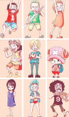 Luffy - Zoro - Nami - Usopp - Sanji - Chopper - Robin - Franky - Brook