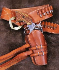 Leather Strap for Western Holsters /& Billy Clubs