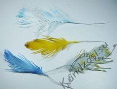 Мастер класс изготовления трех видов декоративных перьев из фоамирана, пошаговые фото