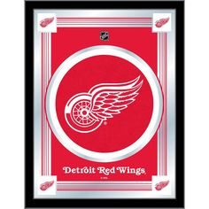 Detroit Red Wings Logo Wall Mirror