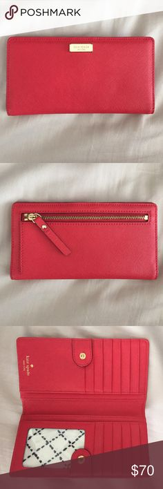 Kate Spade Newbury Lane Stacy Wallet Kate Spade Newbury Lane Stacy Wallet in Red. Used but still in really great condition. kate spade Bags Wallets
