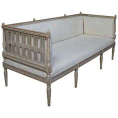 Beautifully Carved Gustavian Sofa | From a unique collection of antique and modern day beds at http://www.1stdibs.com/furniture/seating/day-beds/