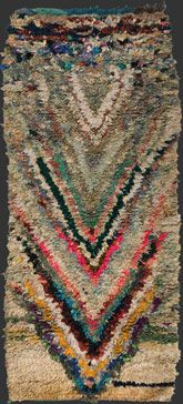 230 x 95 cm (7' 8'' x 3' 2''), rag, recycled industrial fibres