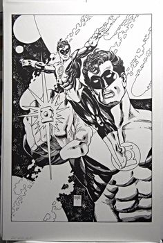 "Green Lantern Signed & Numbered Print Gil Kane 20x13"" - AS NEW - Other"