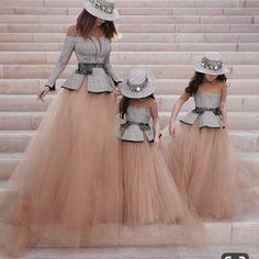 & Daughters Mother with her Daughter with her mother and baby Mommy Daughter Dresses, Mother Daughter Dresses Matching, Mother Daughter Fashion, Mother Daughters, Mother Mother, Fashion Kids, Girl Fashion, Fashion Dresses, 80s Fashion