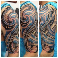 Polynesian Half Sleeve Tattoo 257 #polynesian #tattoo