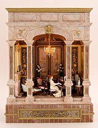 The Newport- Bluette Maloney Miniature Rooms, Miniature Crafts, Miniature Houses, Miniature Furniture, Dollhouse Furniture, Mini Houses, Miniature Kitchen, Diy Doll Miniatures, Mini Doll House
