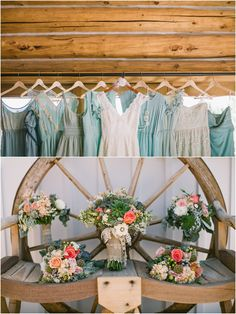 Colorado Mountain Wedding...I love the mismatched dresses and the wildflowers!