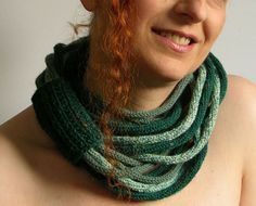 Scarf necklace loop scarf infinity neck wrap neck by piabarile, $35.00