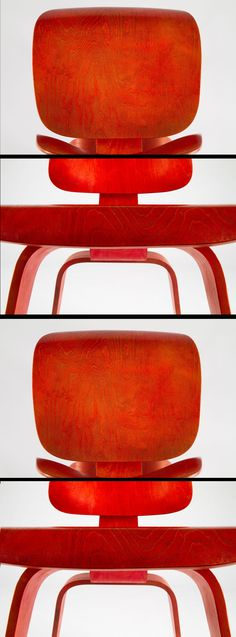 Details of a vintage #Eames LCW in original red aniline dye.  Acquire your own future heirloom now at one of our two exclusive partners @vitra @hermanmiller
