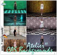 "Annett`s Sims 4 Welt: CAS Backgrounds ""Atelier"" • Sims 4 Downloads"