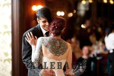 Tattooed brides are awesome!!!!