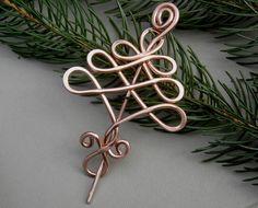 Keltischer Baum-Schal-Pin Pin Schal Pullover von nicholasandfelice