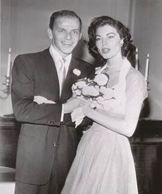 The 1951 wedding of Ava Gardner and Frank Sinatra.