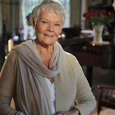 Dame Judi Dench was singled out for particular praise for using scarves to make her look taller