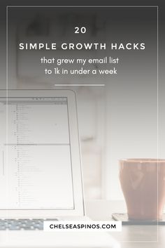Growth hacking can rapidly grow your email subscriber list and amplify your business without marketing spend. These 20 growth hacks will help you gain traction to your website FAST. (P.S. They helped grow my email list to 1k in 1 week)