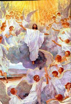 Pictures Of Jesus Christ, Jesus Christ Images, Religious Pictures, Bible Pictures, Angel Pictures, Religious Art, Jesus E Maria, Saint Esprit, Prophetic Art