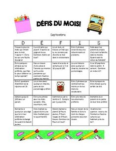 Grade 2 French Immersion Homework for the Whole Year! by Mademoiselle Ave French Lessons, Spanish Lessons, Teaching French, Teaching Spanish, Homework Bingo, Inquiry Based Learning, French Immersion, Spanish Language Learning, Grade 2