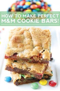 How to Make Perfect M&M Cookie Bars -- Every Time! We love these bars and they are easy to make too!