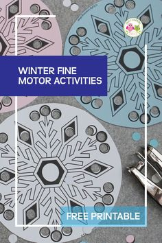 The Best Simple Snowflake Fine Motor Activity Fine Motor Activities For Kids, Winter Activities For Kids, Literacy Activities, Snow Theme, Winter Theme, Bug Crafts, Preschool Crafts, All About Me Crafts, Simple Snowflake