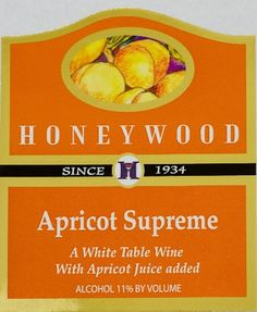 Dessert Wine - NV Honeywood Winery Apricot Supreme Fruit Wine 750 mL * Click image to review more details.