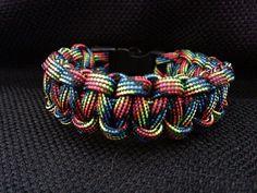 Dark Rainbow Paracord Bracelet by 4PawsOnlyNovelties on Etsy, $6.00