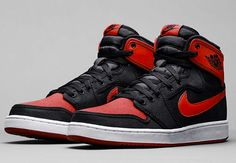 Air Jordan 1 KO High OG Bred Color: Black/Varsity Red-White Style Code:638471-001 Release Date:August 8, 2015 Price:$160