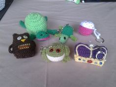 More wee crochet amigurumi key rings/charms