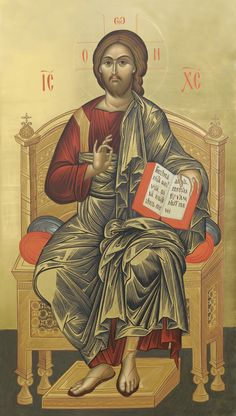 Cristo Rei Pantocrátor Trinidad, Greek Icons, Byzantine Icons, Lord And Savior, Orthodox Icons, My King, Ikon, Jesus Christ, Saints