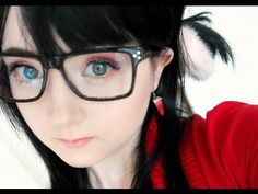 Cute Makeup For Glasses - https://www.youtube.com/watch?v=MOUMhpMU-Ws