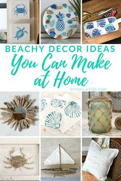 Already missing the beach now that vacation is over? Bring some of those carefree vacation vibes home with these beachy decor ideas! Beachy Room, Beach Gifts, Beach House Decor, Beach Houses, Beach Wall Decor, Coastal Decor, Diy Beachy Decor, Coastal Interior, Beach Themes