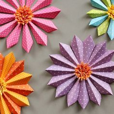 Craft up some paper flowers to celebrate Spring's arrival.