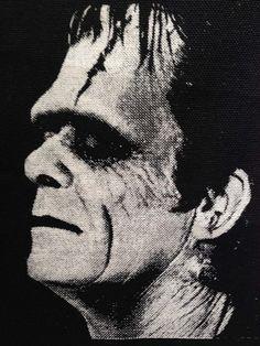 Frankenstein patch, Punk Patch, Horror, Black