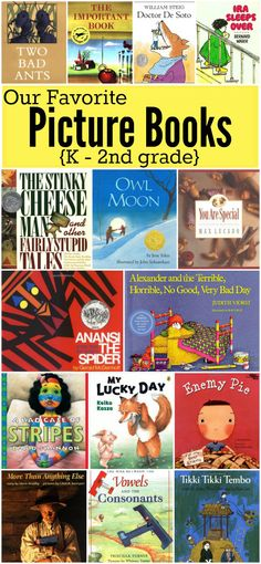 Our Favorite Picture Books for K-2nd grade   This Reading Mama